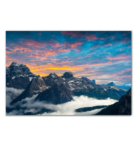 Rocky Mountain Sunset - Wrapped Canvas Art