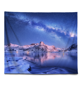 Milky Way In The Arctic - Wall Tapestry