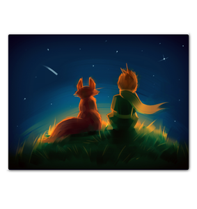 The Little Prince And The Fox - Wrapped Canvas Art
