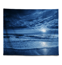 Load image into Gallery viewer, Blue Moonlight - Wall Tapestry