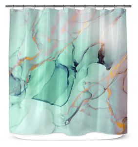 Abstract Marble - Shower Curtain