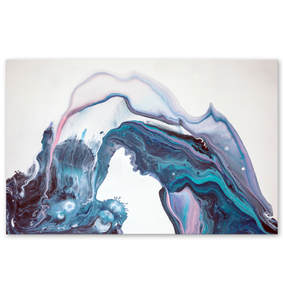 Abstract Water Fountain - Poster Art