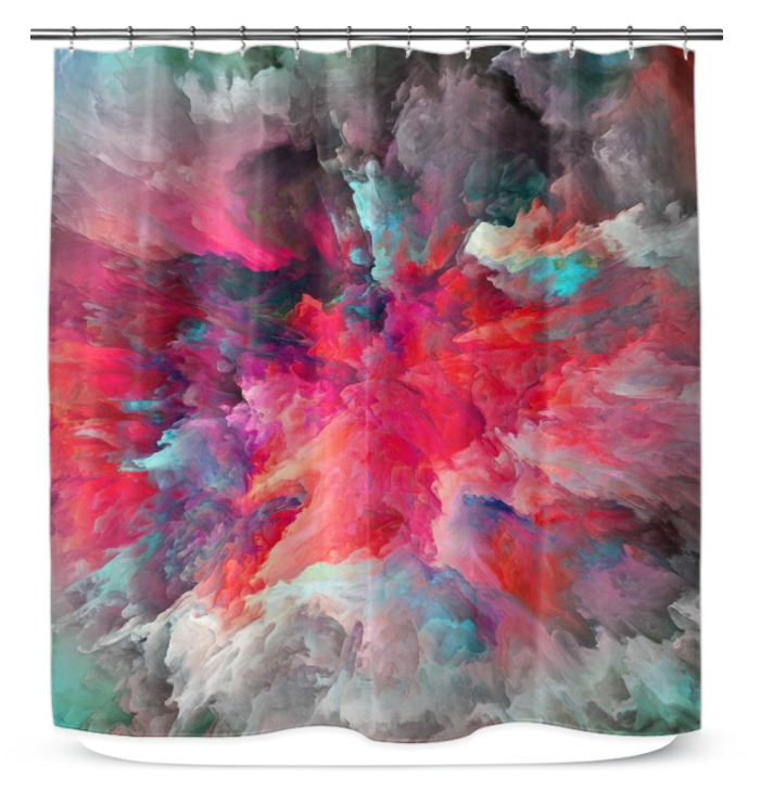 Clouded Colorfully - Shower Curtain