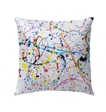 Load image into Gallery viewer, Splattered Paint - Outdoor Pillow