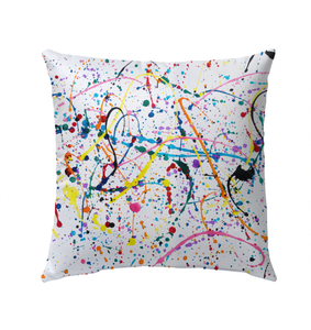 Splattered Paint - Outdoor Pillow