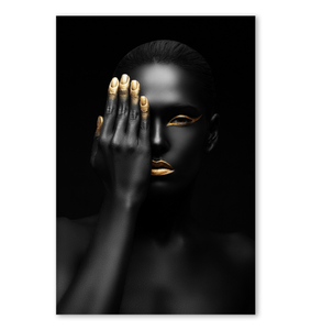 Black And Gold Woman - Poster Art