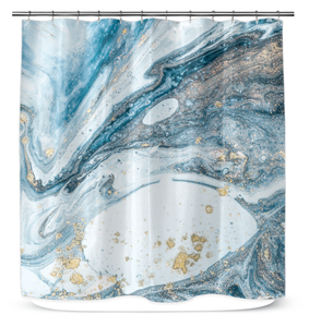 Abstract Water - Shower Curtain
