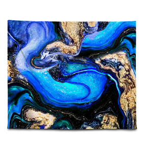 Blue Abstraction - Wall Tapestry