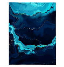 Load image into Gallery viewer, Blue Marble Stone - Fleece Blanket