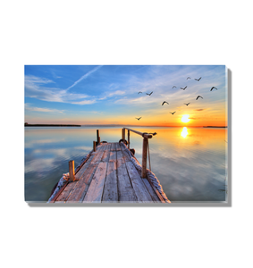 Sunset On The Dock - Premium Acrylic Print