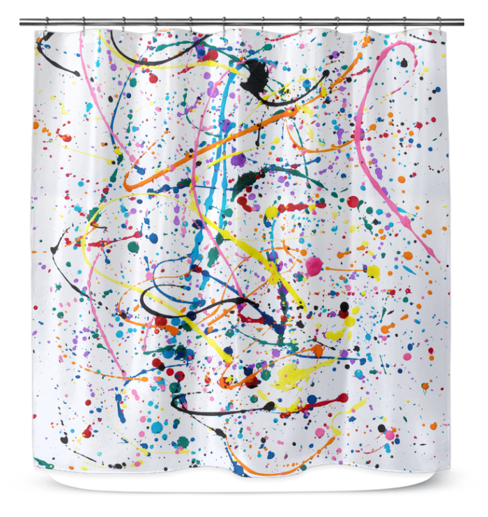 Splattered Paint - Shower Curtain