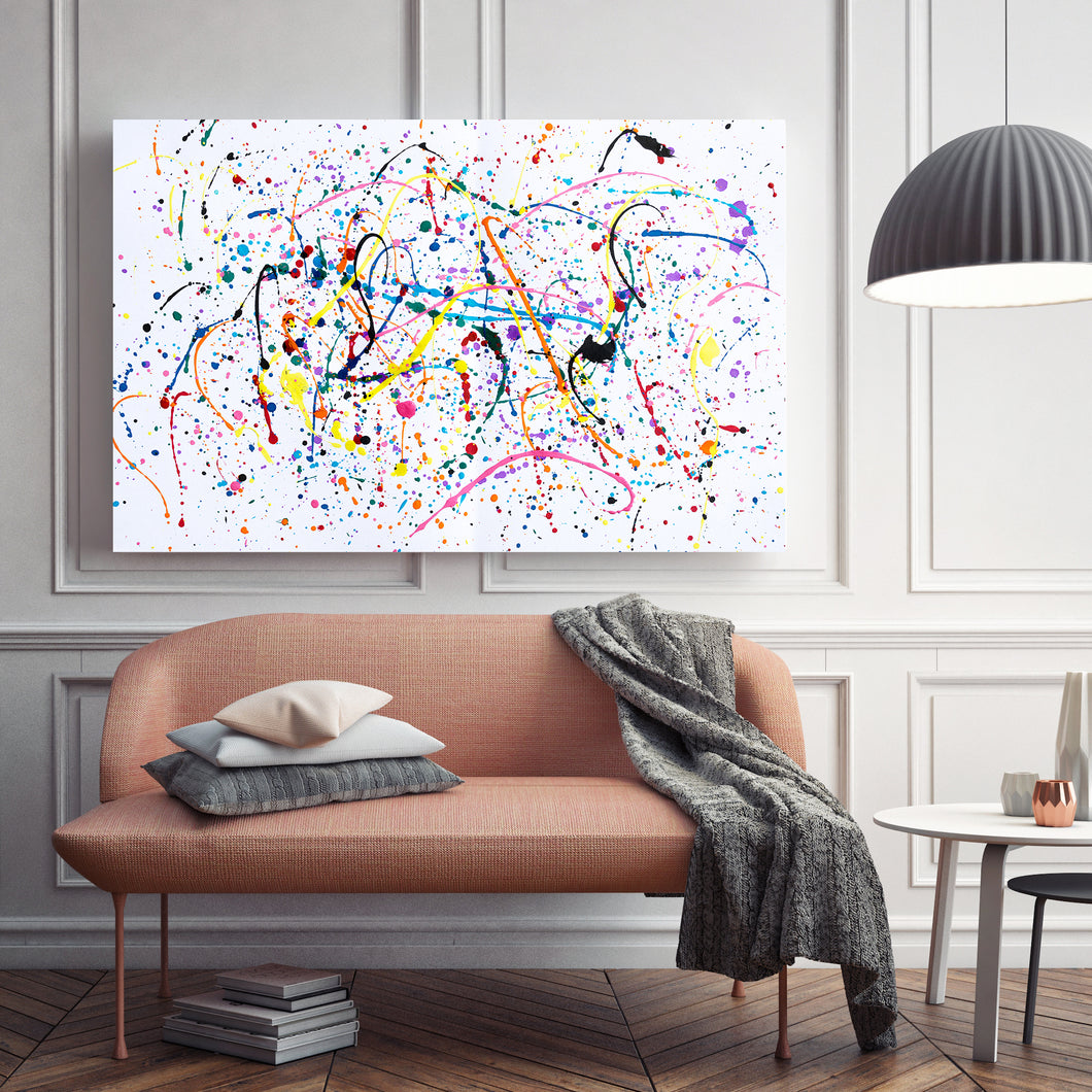 Splattered Paint - Wrapped Canvas Art