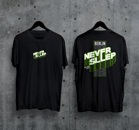 Never Sleep T-Shirt - Techno Germany Store