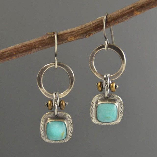Yvonne Water Drop Turquoise Boho Earrings