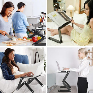 Adjustable Folding Laptop Desk - Bargainsfan