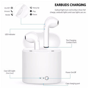 Wireless Earbuds for iPhone and Android - Bargainsfan