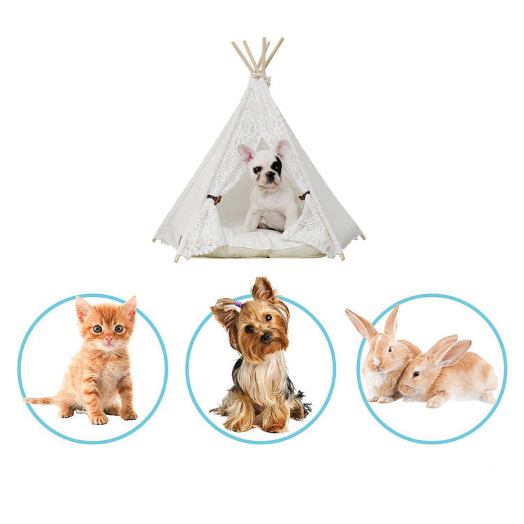 Cute Tepee Pet Tent - Bargainsfan