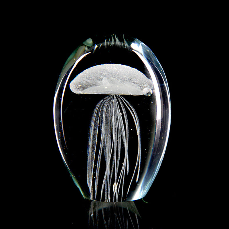 Handmade Glowing Glass Jellyfish Figurine - Bargainsfan
