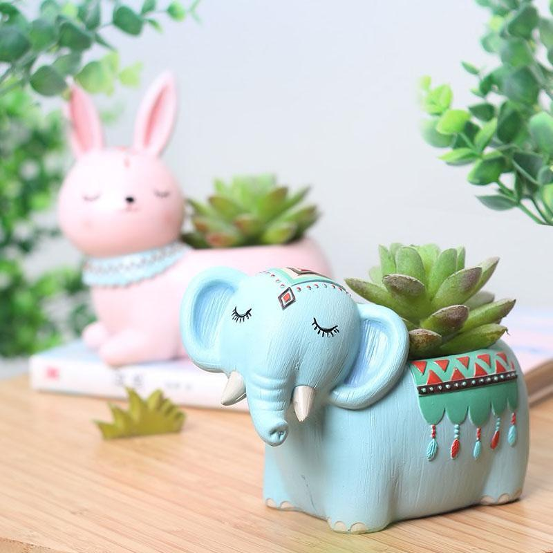 Boho Animals Planter - Bargainsfan