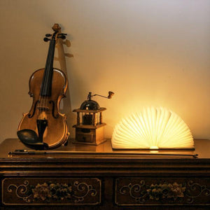 Wood Book LED Lamp - Bargainsfan