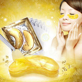 24K 30 Pcs Collagen Gold Eye Mask Golden Crystal Patches 30 pack - Bargainsfan