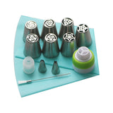 13pcs/Set Pastry Nozzles And Coupler Icing Piping Tips Made With Durable Stainless Steel - Bargainsfan