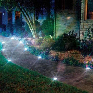 Waterproof Solar Powered LED Disk Lights - Bargainsfan