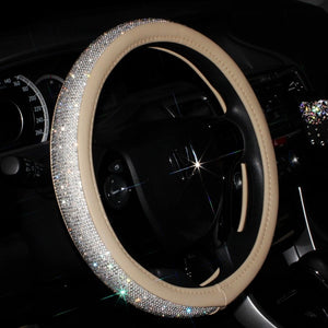 Sparkly Crystal Steering Wheel Cover - Bargainsfan