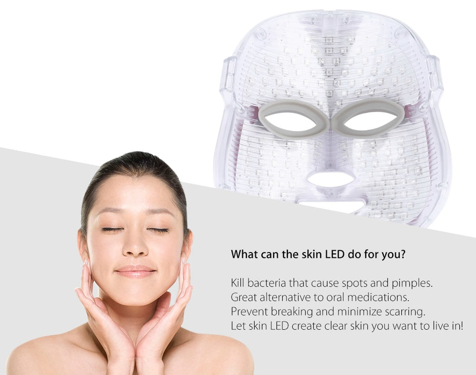 LED Spa Facial Mask - Bargainsfan