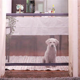 Magic Dog Gate, Pet Stair Gate Safe Guard Portable Folding Insulation Net for Small Animals - Bargainsfan