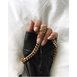 Statement Snake Ring 18K Gold Plated