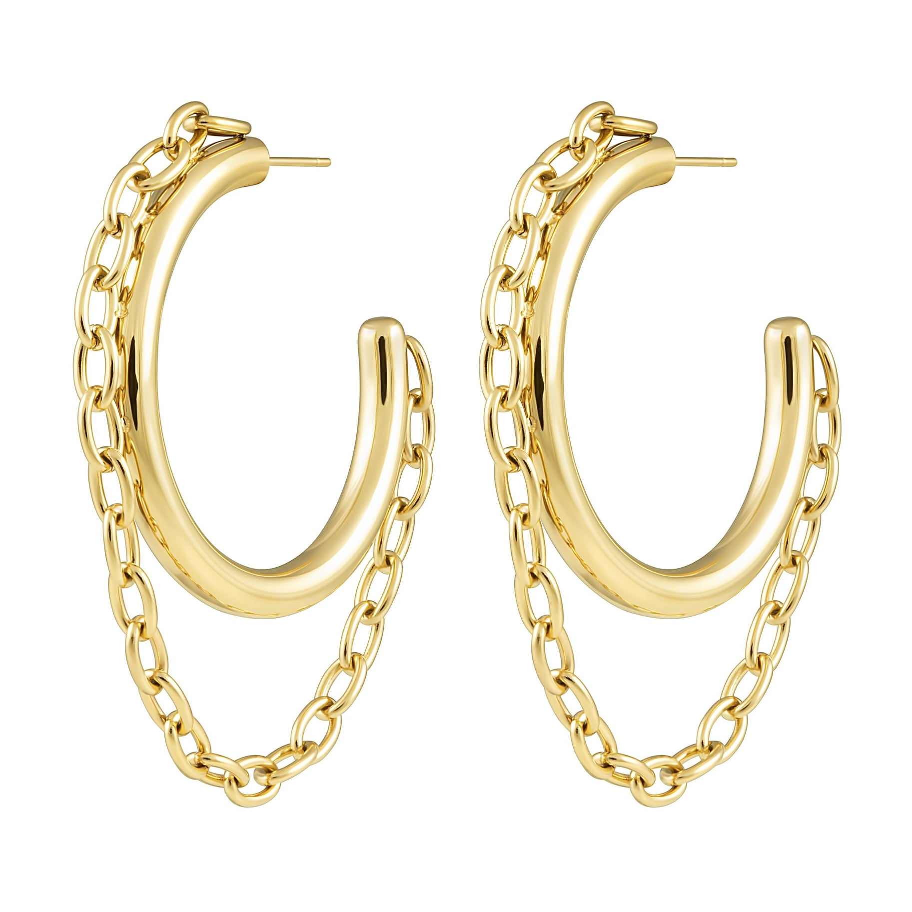 Luxury Hoop Earrings 18k Gold Plated