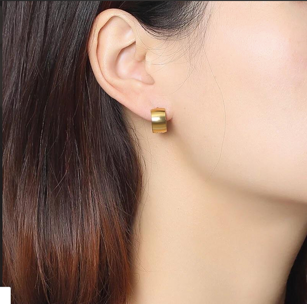 Basic Hoop Earrings 18k Gold Plated