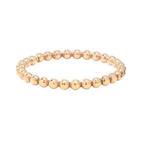 Beaded Stackable Ring 18K Gold Plated