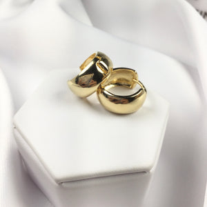 Fashion Hoop Earrings 18k Gold Plated