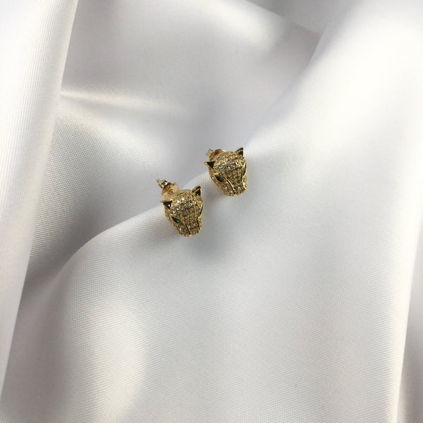 Delicate Jaguar stud earrings 18K Gold Plated