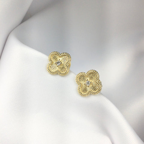 Alhambra Flower Earrings 18k Gold Plated