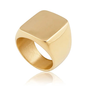 Maxi Square Ring 18k Gold Plated