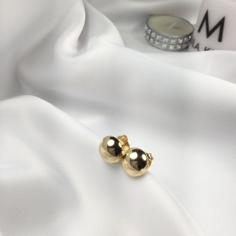 Small Minimalist Round Earrings 18K Gold Plated