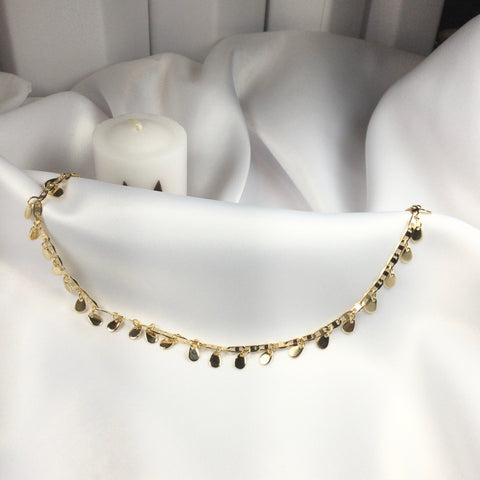 Drop Choker 18k Gold Plated