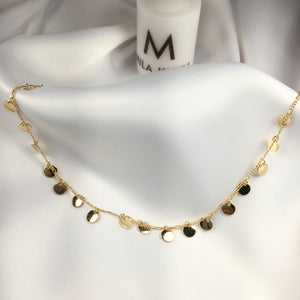 Disc Choker 18K Gold Plated