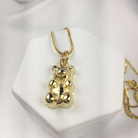 Gummy Bear. Necklace 18k Gold Plated