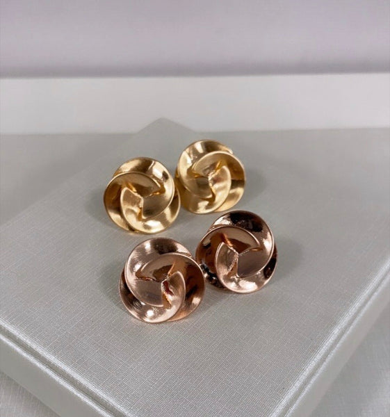 Spiral Earrings 18K Gold Plated