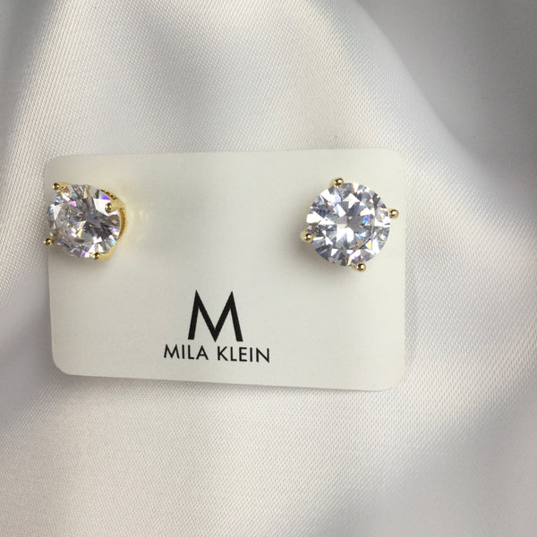 Studded Earrings Crystal 18k gold plated