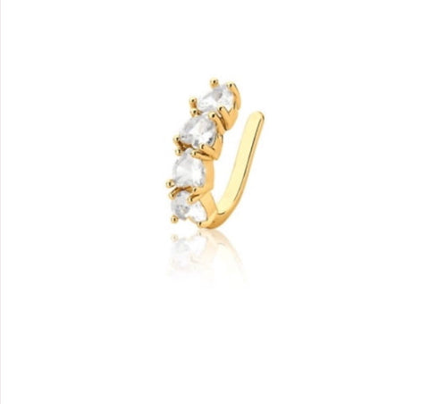 Ear Cuff Premium CZ 18k Gold Plated
