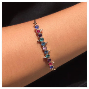 Colorful Bracelet 18k gold Plated