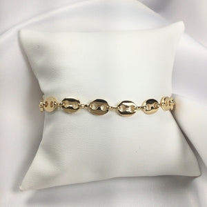 Famous Brand Inspired Barcelet 18k Gold Plated