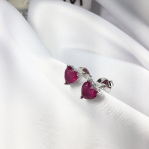 Rubellite Fusion Stone Studded Earrings