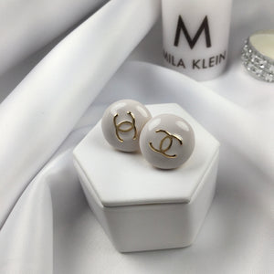 Ivory Famous Brand Inspired Earrings 18k Gold Plated