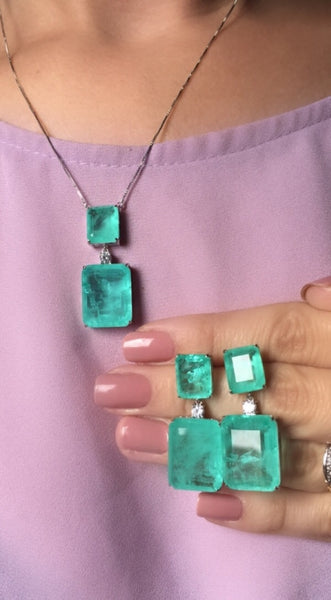 Luxury Necklace Colombian Emerald - Mila Klein